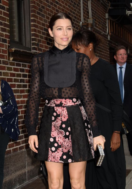 "Jessica Biel - Arriving to Appear on ""The Late Show With Stephen Colbert"" TV Show in NYC 09/05/2017"