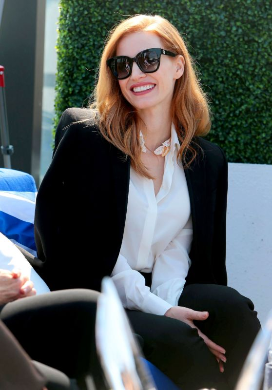 """Jessica Chastain - Grey Goose Cocktails & Conversation With Cast of """"Woman Walks Ahead""""in Toronto 09/10/2017"""