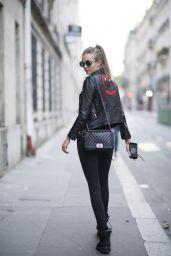 Josephine Skriver Chic Street Style - Paris 09/27/2017