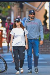 Julianne Moore With Bart Freundlich - Out in New York City 09/08/2017