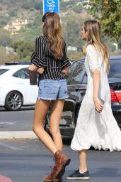 Kaia Gerber Leggy in Jeans Shorts - Malibu, CA 09/03/2017