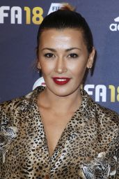 """Karima Charni – """"FIFA 2018"""" Game Launch Party in Paris 09/25/2017"""