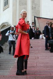 Karlie Kloss in Red - Milan, Italy 09/25/2017