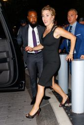 Kate Winslet in a Black Dress - Times Talk in New York 09/27/2017