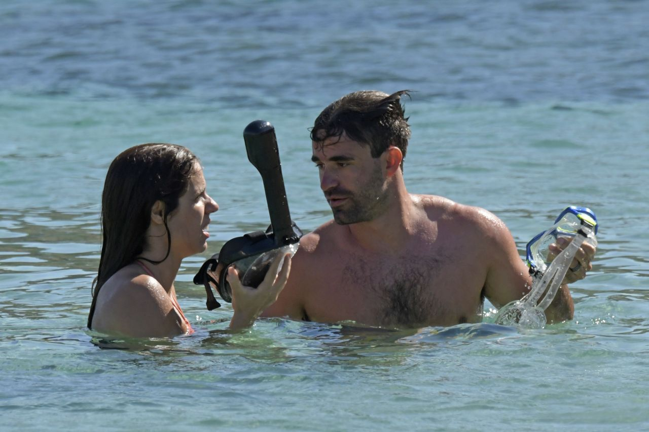 Katerina Stefanidi in Bikini - Enjoys a Day on the Beach in Mykonos 09/06/2017