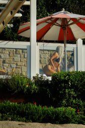 Kim Kardashian Bikini Candids - at the Beach in Malibu 09/20/2017