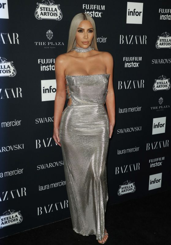 Kim Kardashian – Harper's Bazaar ICONS Party at NYFW 09/08/2017