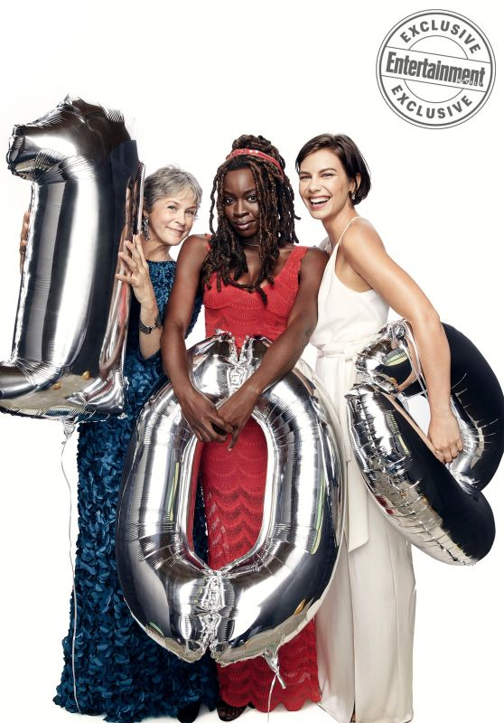 Lauren Cohan, Melissa McBride & Danai Gurira - Entertainment Weekly September 2017