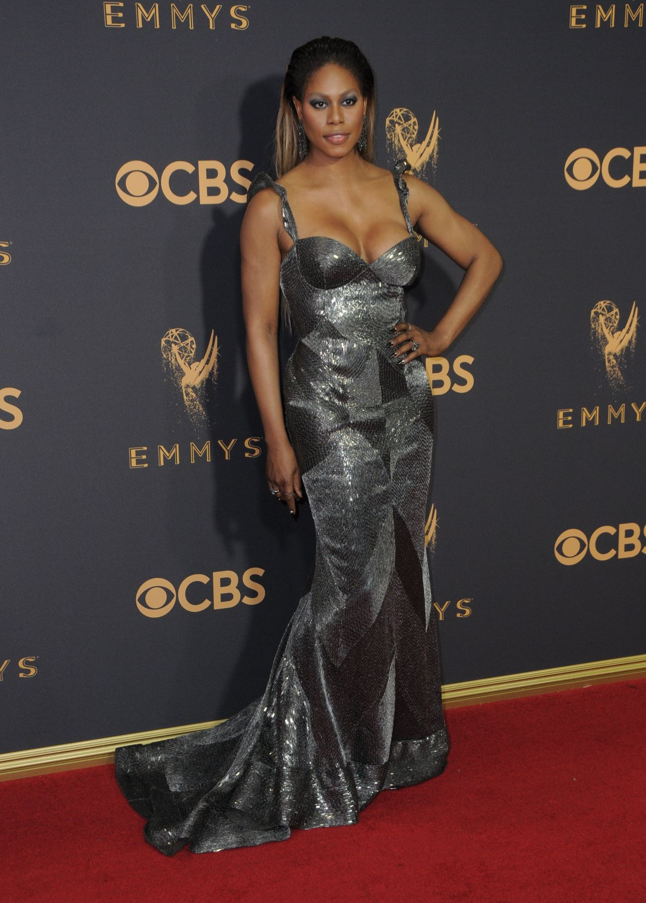 Laverne Cox – Emmy Awards in Los Angeles 09/17/2017