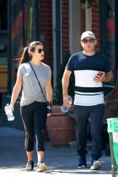 Lea Michele in Leggings - Out in New York City 09/24/2017
