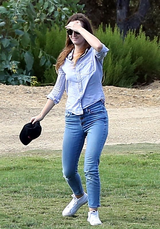 Leighton Meester at the Park in Los Angeles 09/21/2017
