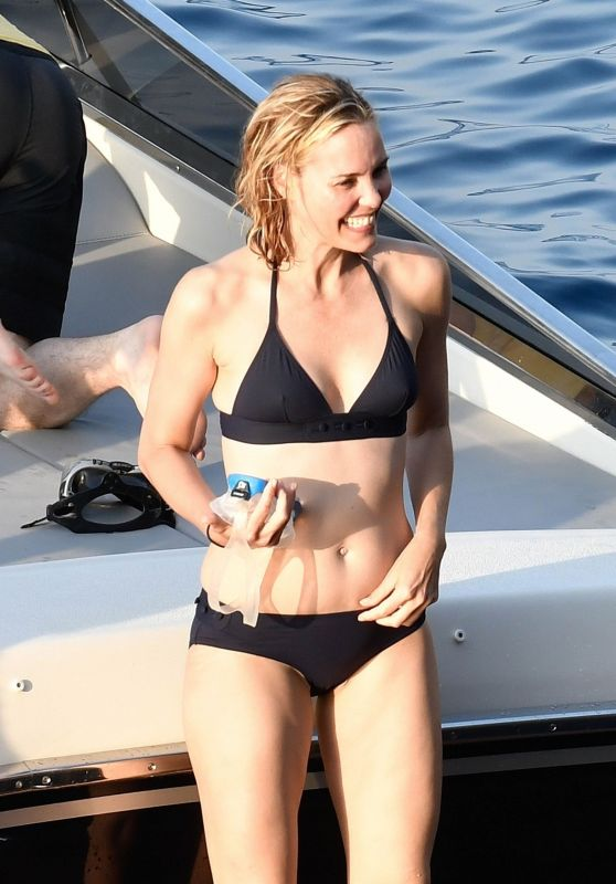 Leslie Bibb in Bikini - Amalfi Coast in Italy 08/30/2017