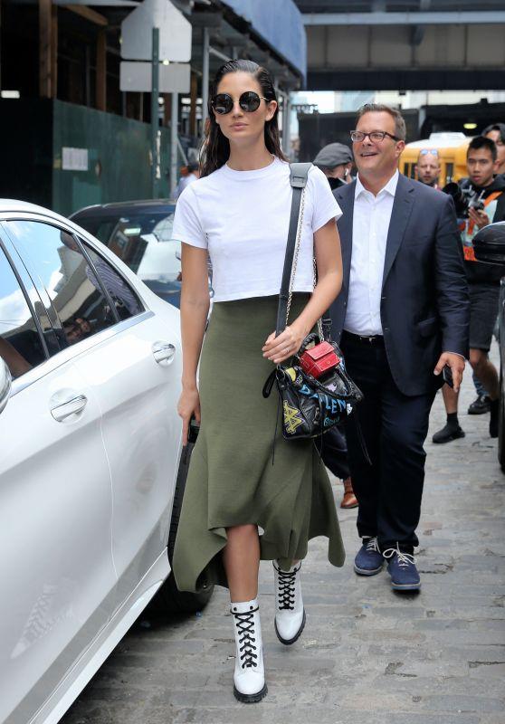 Lily Aldridge - Leaves the Jason Wu Fashion Show in NYC 09/08/2017