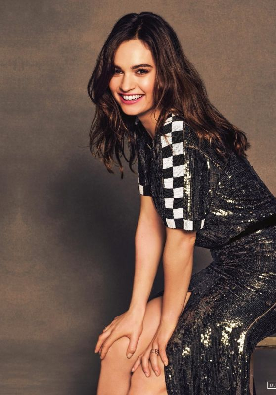 Lily James - Baby Driver Promoshoot 2017