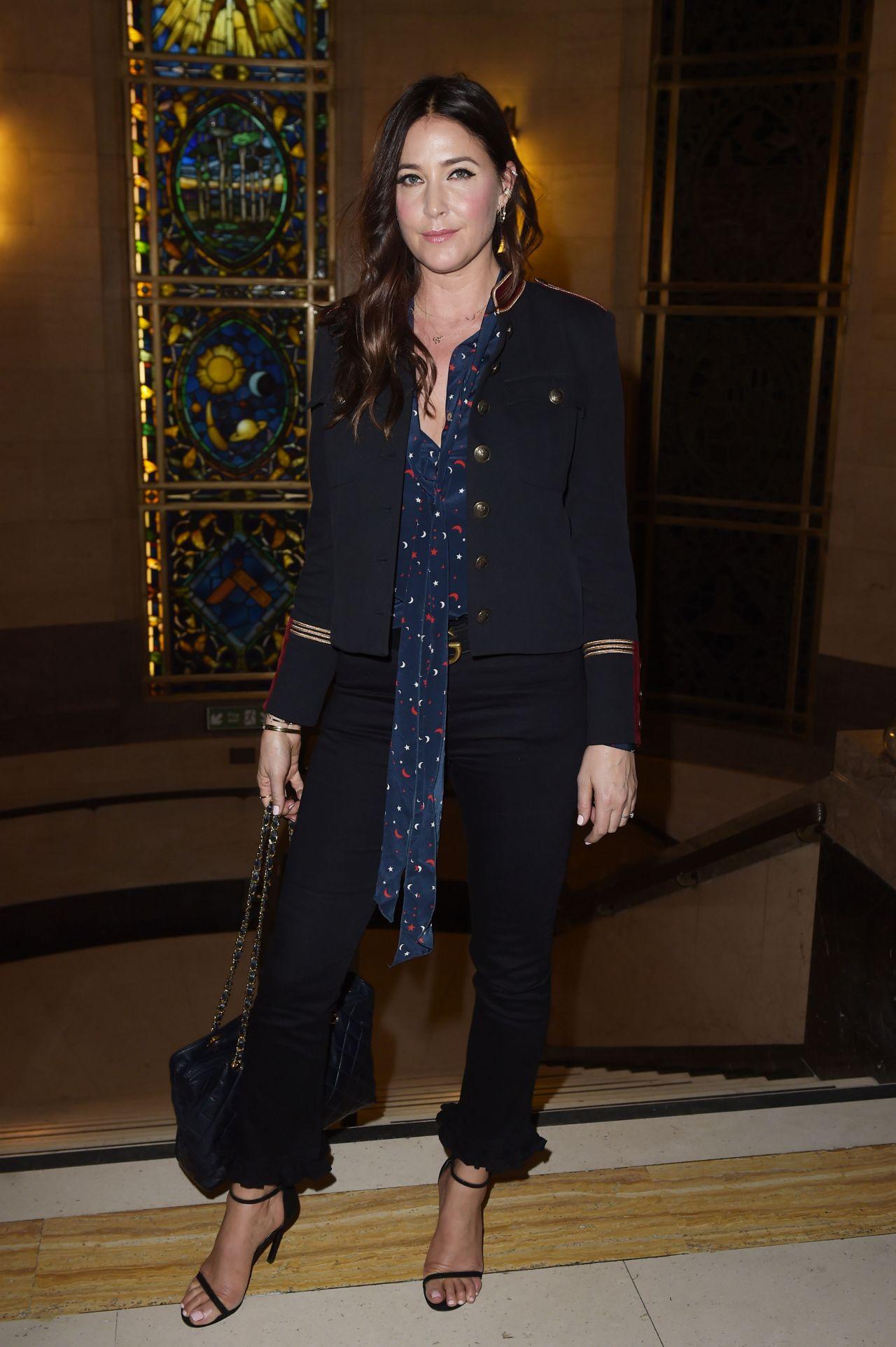 Lisa Snowdon -  Pam Hogg Fashion Show, London Fashion Week 09/15/2017