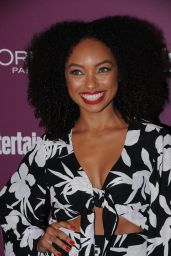 Logan Browning – EW Pre-Emmy Party in West Hollywood 09/15/2017