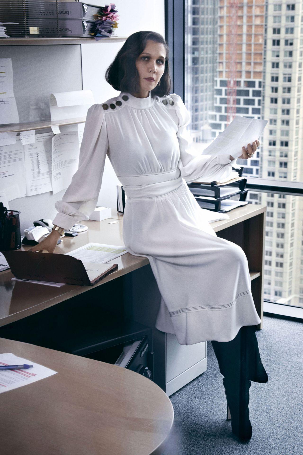 Maggie gyllenhaal harpers bazaar october 2019 photos