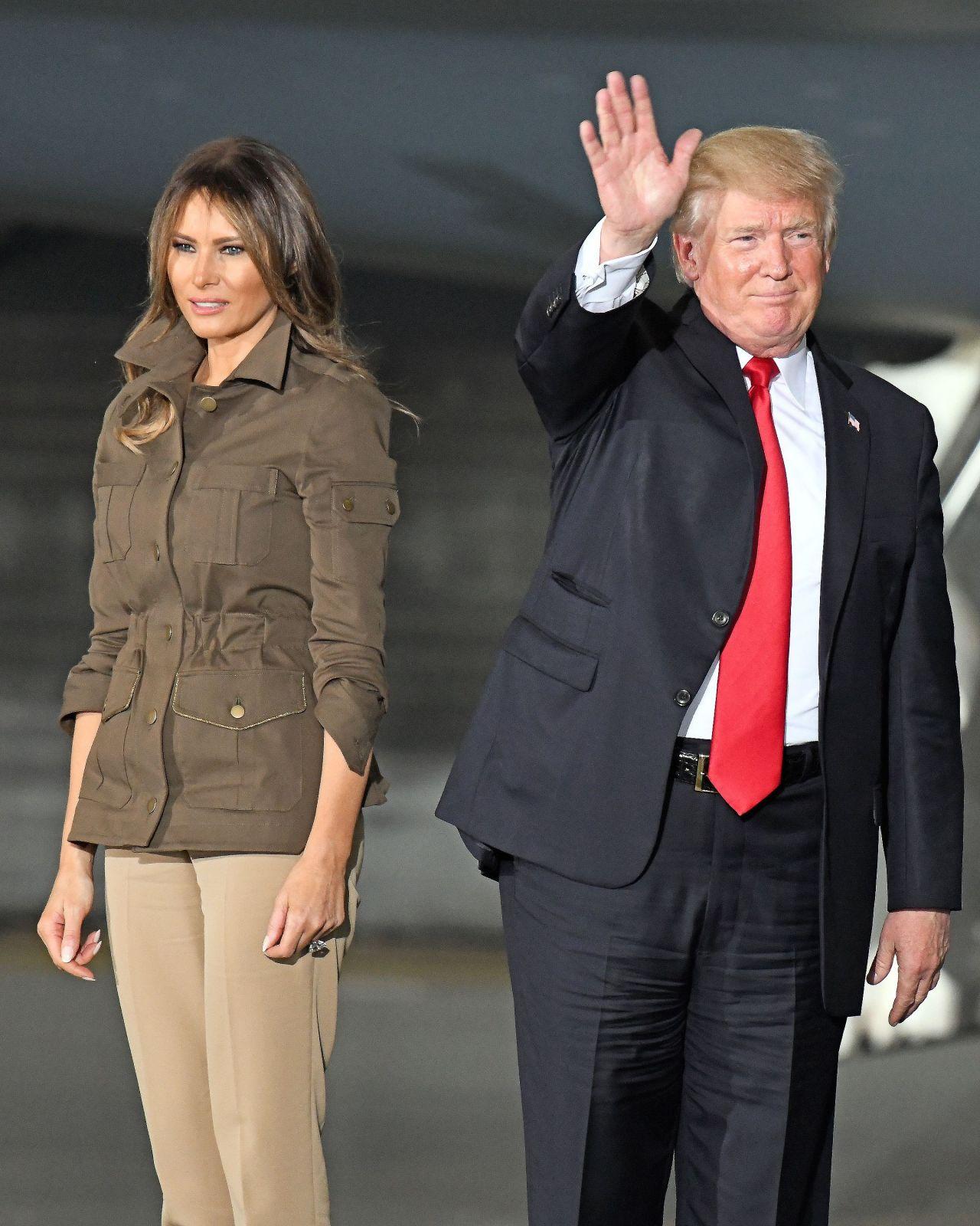 Melania Trump and Donald J. Trump - Maryland 09/15/2017