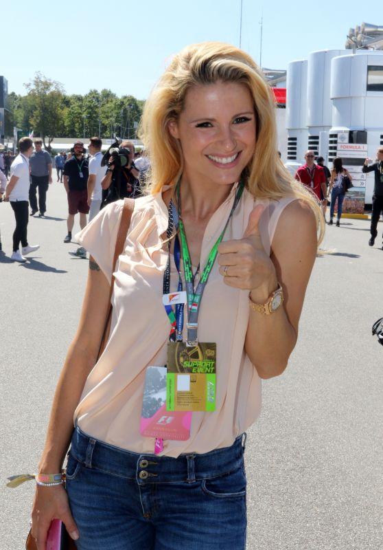 Michelle Hunziker - Formula One Italian Grand Prix in Monza, Italy 09/03/2017