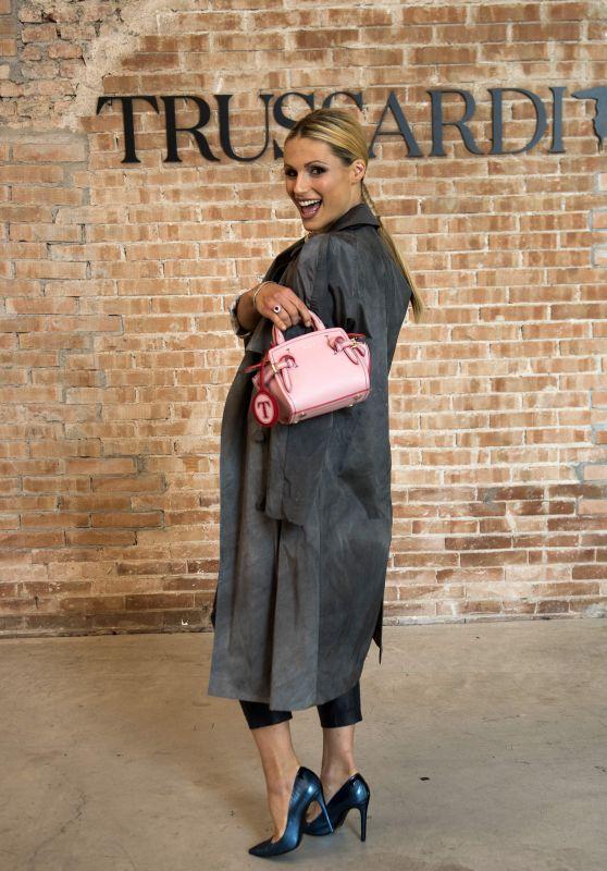 Michelle Hunziker - Trussardi Fashion Show in Milan 09/24/2017