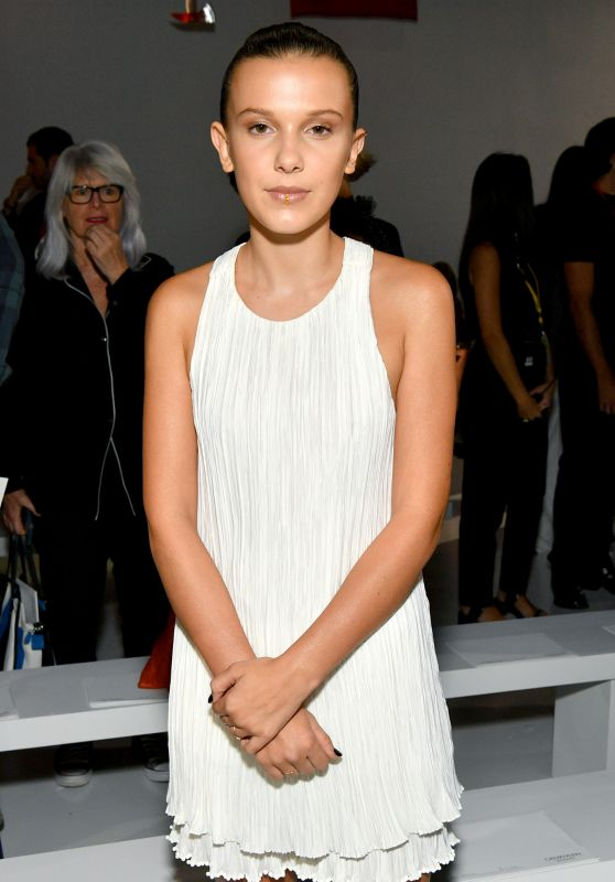 Millie Bobby Brown at Calvin Klein Collection Fashion Show - NYFW 09/07/2017