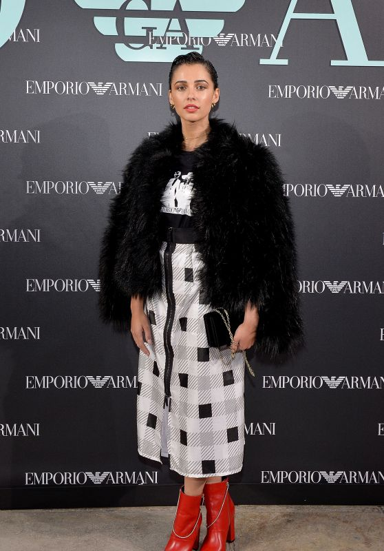 Naomi Scott – Emporio Armani Show in London 09/17/2017