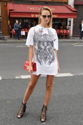 Natasha Poly - Arriving at Balmain Fashion Show in Paris 09/28/2017