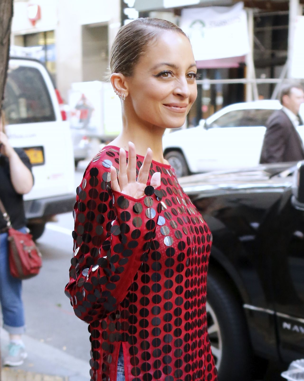 Nicole richie leaves today tv show in new york new foto