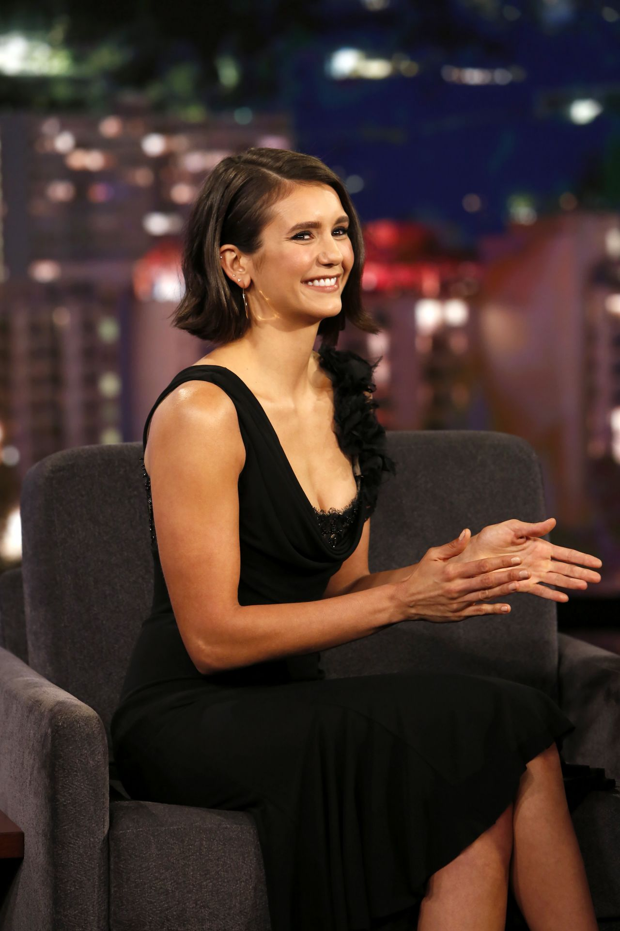 Nina Dobrev Jimmy Kimmel Live In Los Angele 09 14 2017