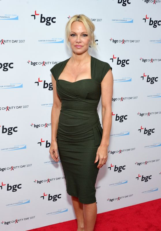 Pamela Anderson - BGC Partners Charity Day Commeorating 9/11 at BGC Partners in New York 09/11/2017