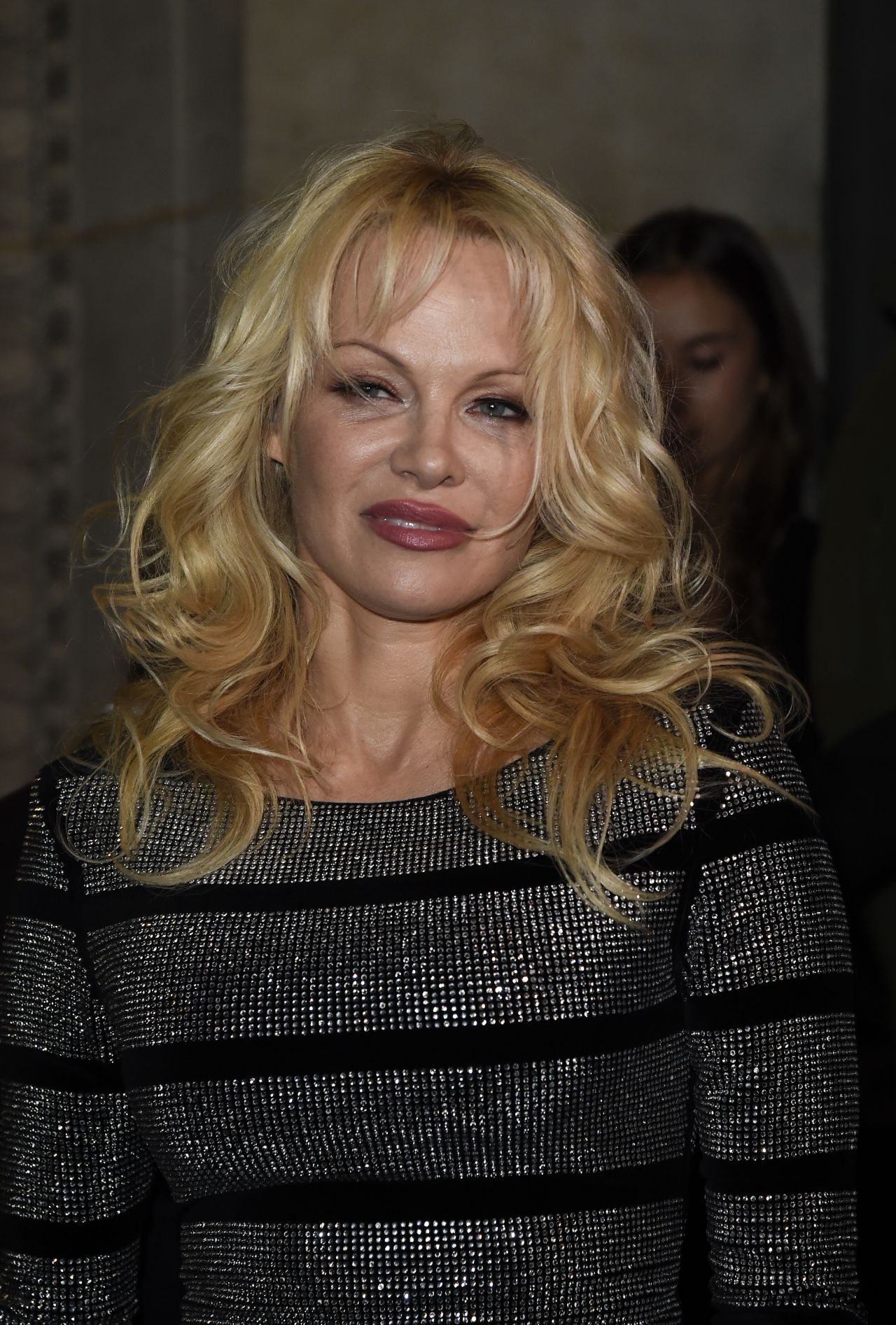 Pamela Anderson – L'Oreal X Balmain Party in Paris 09/28/2017 Pamela Anderson