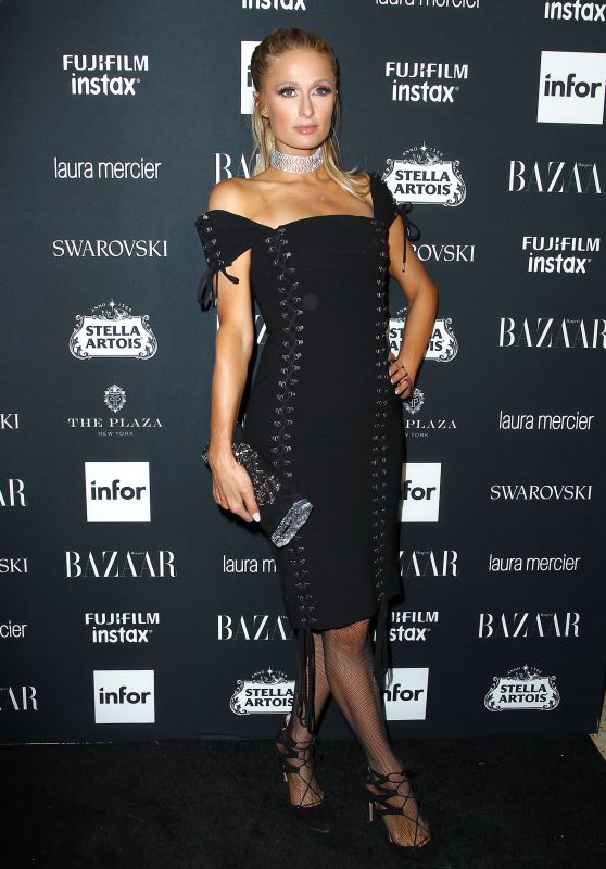 Paris Hilton – Harper's Bazaar ICONS Party in New York 09/08/2017