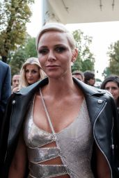 Princess Charlene – Versace Show at the Milan Fashion Week 09/22/2017