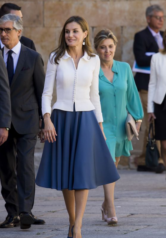 Queen Letizia of Spain - Opening of the Scholar College Year at Salamanca University 09/14/2017