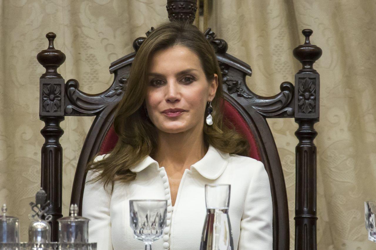 Queen Letizia Of Spain Opening Of The Scholar College