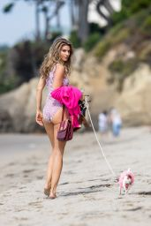 Rachel McCord in Swimsuit - Beach in Malibu 09/24/2017