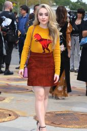 Sabrina Carpenter - Outside Coach Fashion Show at NYFW in NYC 09/12/2017