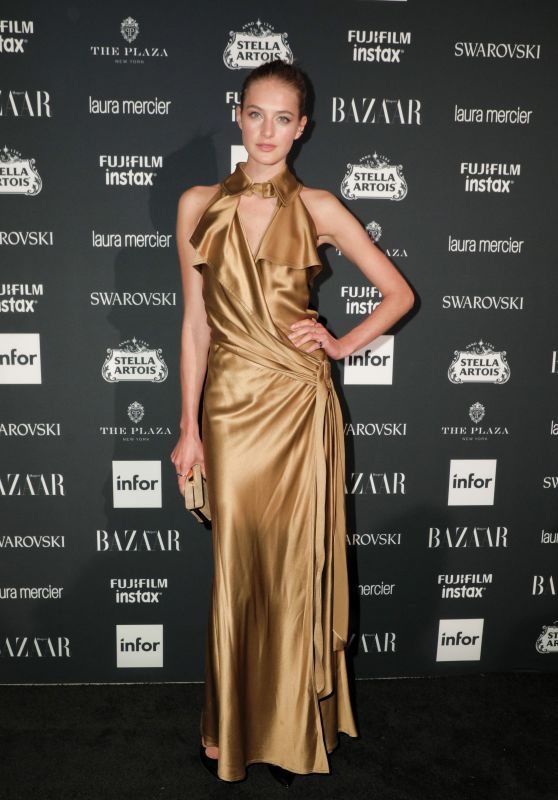 Sanne Vloet – Harper's Bazaar ICONS Party in New York 09/08/2017