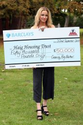 Sarah Harding - Donates Her Big Brother Winnings To The Haig Housing Trust In London 09/22/2017
