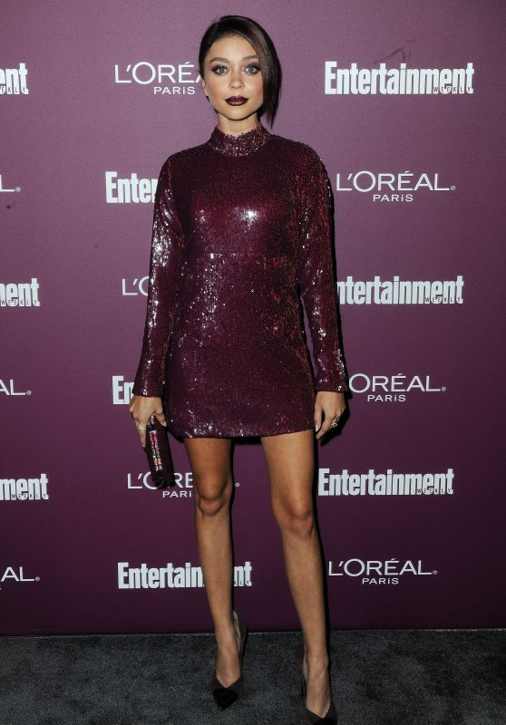 Sarah Hyland – EW Pre-Emmy Party in West Hollywood 09/15/2017