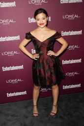 Sarah Jeffery – EW Pre-Emmy Party in West Hollywood 09/15/2017