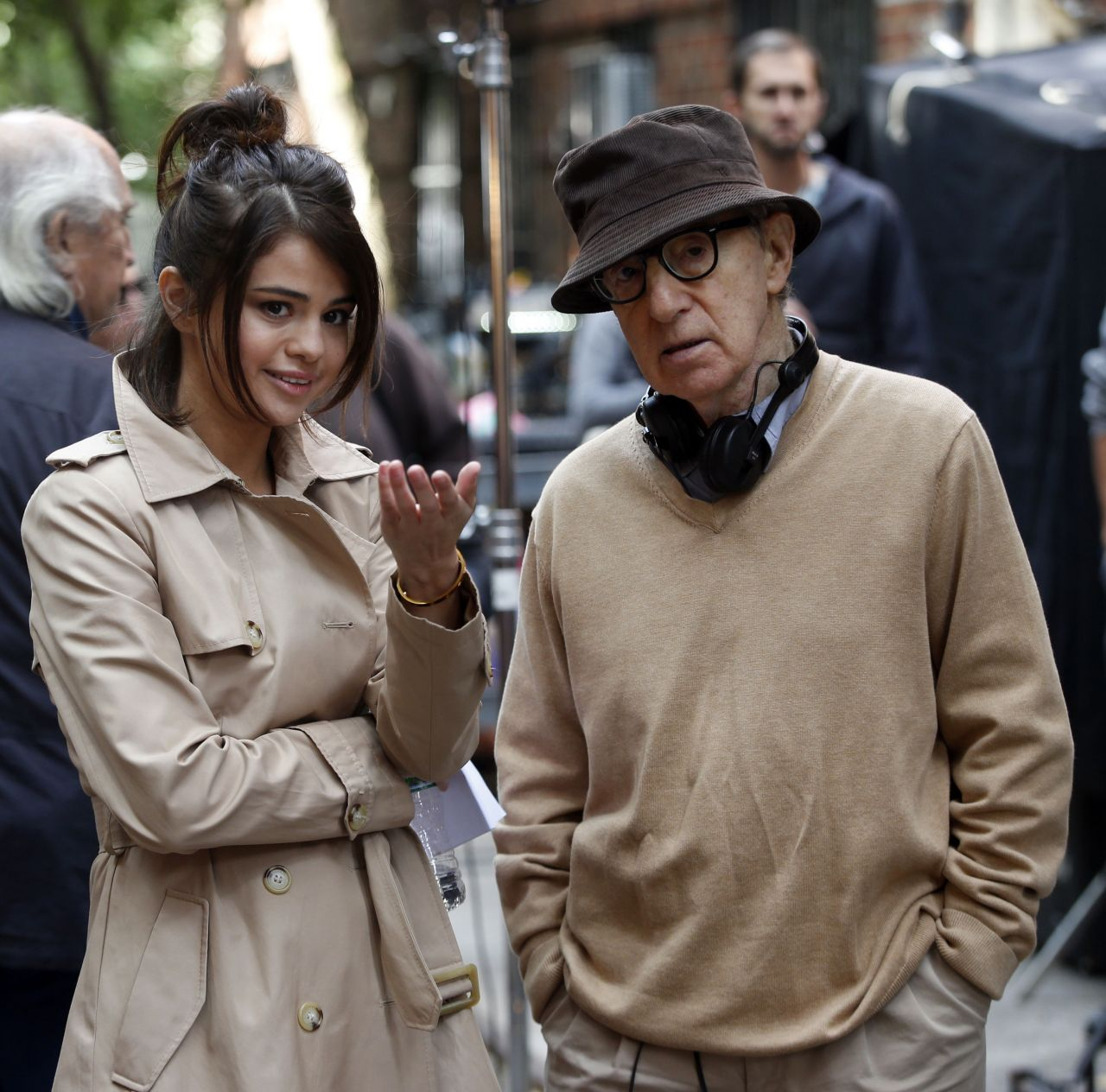 selena gomez on the set of woody allen movie in nyc 09