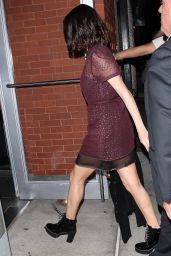 Selena Gomez Wears a Purple Sheer Dress - Night Out in NYC 09/12/2017