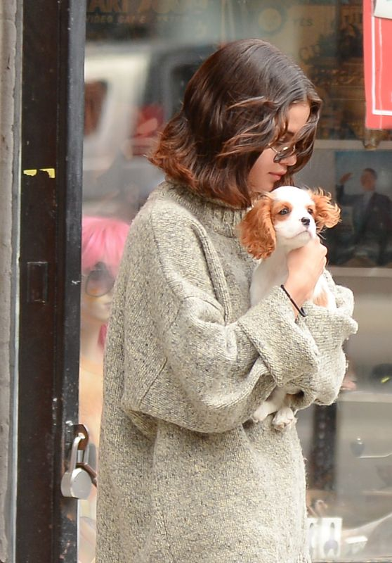 Selena Gomez - With Her Puppy in Soho, NYC 09/20/2017