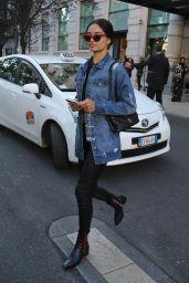 Shanina Shaik Casual Style - Milan, Italy 09/21/2017