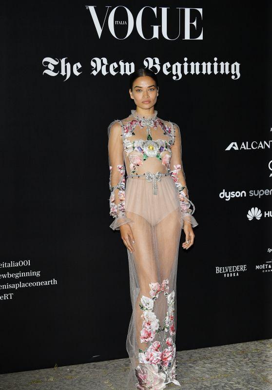 Shanina Shaik – Vogue Italia Party in Milan 09/22/2017