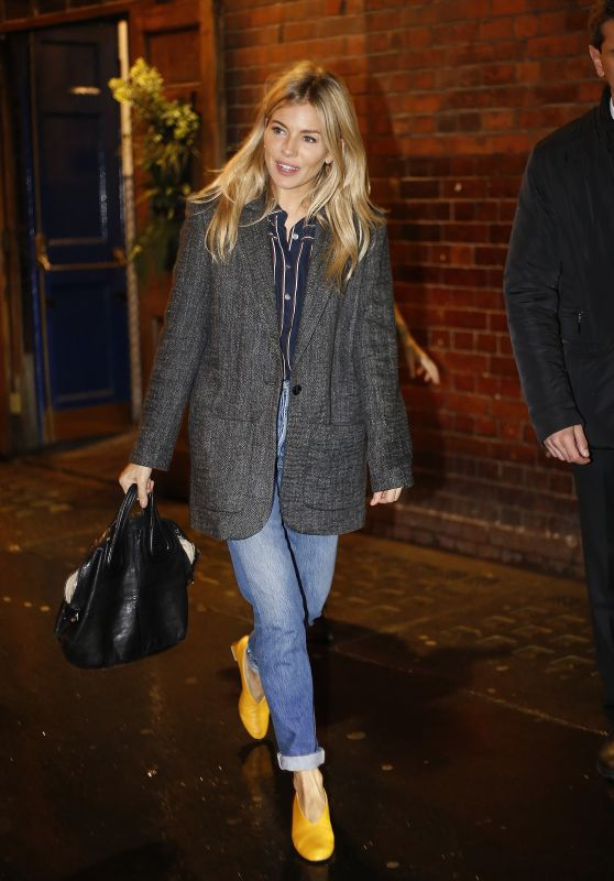 Sienna Miller - Leaving Apollo Theatre in London 09/18/2017