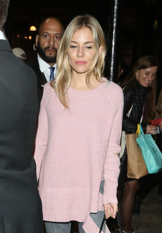 Sienna Miller - Leaving Apollo Theatre in London, UK 09/28/2017