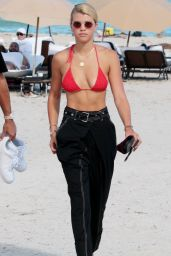 Sofia Richie in Bikini Top - Beach in Miami 09/23/2017
