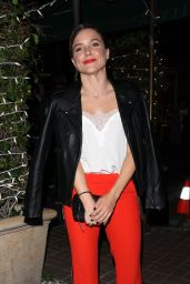 Sophia Bush - Out for Dinner at Italian Restaurant Madeo in West Hollywood 09/22/2017